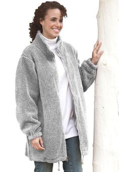 Roamans Plus Size Mega Fleece Jacket http://www.anorakoutlet.com