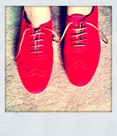 little red brogues