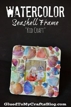 Watercolor Seashell Frame #ChooseDreams