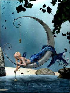 AFFBooks | Swim the Mermaid | Mermaid and the moon