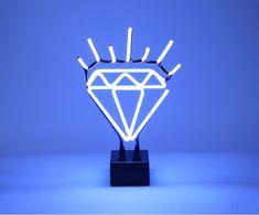 Luminária Neon Diamante Bivolt - 24X38X14cm
