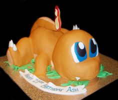 3D Charmander Birthday Cake - by Nada's Cakes Canberra