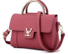 a61ae4b572e6 2017 Women's V Letters Saffiano Handbags Lady Leather Commuter Office Ring  Tote Bag Pouch Bolsas Famous