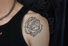 Done by Kimi Ledger at Diamond Thieves in Asheville, NC. It's a 65 roses tattoo for Cystic Fibroid awareness, and it's pretty good.