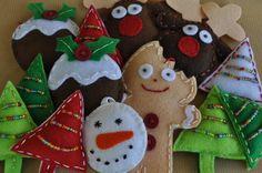 Christmas felt decorations