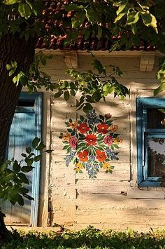 Love this idea ~ a stencil on the outside of your house instead of the inside!  From weheartit.com.