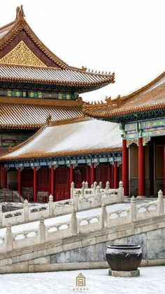 Beijing Forbidden City after the first snow in via TW by All Things Chinese  Ancient Chinese Architecture, China Architecture, Historical Architecture, Cultural Architecture, Interior Architecture, Chinese Places, City Wallpaper, Environment Concept Art, Ancient China