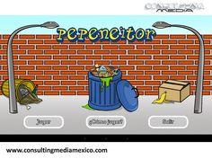 MIGUEL BAIGTS. Pepeneitor es una aplicación disponible para Windows en la cual se debe calificar la basura y colocarla en el bote de basura correcto, esto con la finalidad de crear conciencia sobre el reciclaje y la separación de la basura.  #redessociales