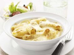 Pasta med ostsås Rigatoni, Mashed Potatoes, Dips, Good Food, Veggies, Breakfast, Ethnic Recipes, Dressings, Sauces