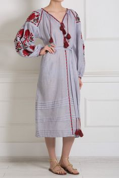 Ukrainian embroidered dress. Boho style. by EmbroideredDream