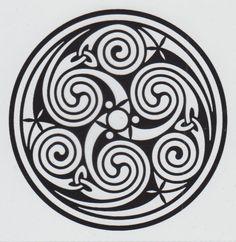 Celtic Symbols | Celtic Circle Triskelion Symbol Car Window Sticker