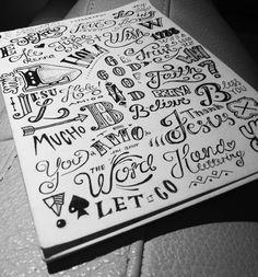 Hand lettering sketchbook by Ludvig Nevland  #art_journal