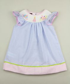 Look at this Blue Stripe Smocked Princess Dress - Infant & Toddler on #zulily today!