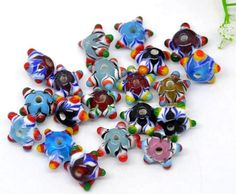 Glass Lampwork Star Beads in Supplies with a Surprise auction tonight! on @Tophatter http://tophatter.com/auctions/14949