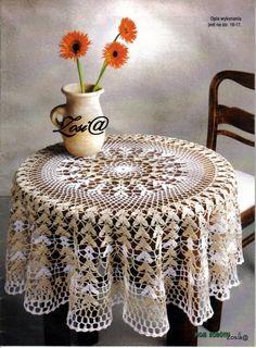 ru / Фото - Wzory szydelkowe - gosiaka Table runners and tablecloth Crochet Table Topper, Crochet Tablecloth Pattern, Crochet Bedspread, Crochet Motif, Crochet Doilies, Crochet Patterns, Thread Crochet, Embroidery Thread, Crochet Hooks