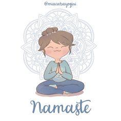 Yoga Illustration, Namaste, Disney Characters, Fictional Characters, Character Design, Graphics, Illustrations, Disney Princess, Artwork