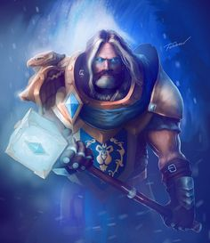 Uther 'The Lightbringer', First paladin & Grand Master of the Silver Hand (by jester567 )