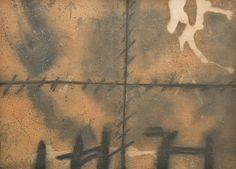 """Antoni Tàpies Aguafuerte en Negro, Gris y Ocre con Relieves """"Matière"""" 1972 63 x 90 cm Tirada de 75 ejemplares Firmado y numerado a mano Galfetti nº 329 Precio: Consultar Web: www.grabadosylitografias.com Más información y consultas: galeria@grabadosylitografias.com"""