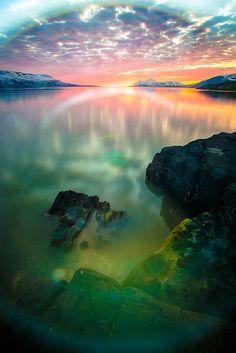 Rise & Shine Rainbows on The Longest Fjord in Iceland ~ Eyjafjörður, North Iceland