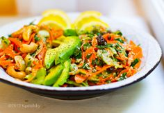 Shredded Carrot Salad Duo. His & Hers.