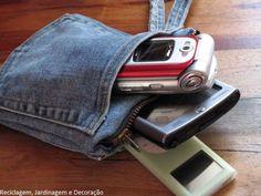bolsinha de jeans