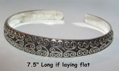 Antiqued Tibet SIlver Engraved Cuff Bracelet Free Shipping No FEES $10.00