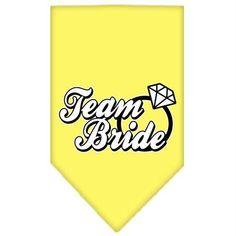 Team Bride Screen Print Bandana Yellow Large