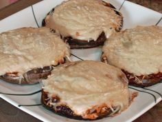 Low-Carb Portabella Pizzas from Food.com: If you are watching your carbs, and crave pizza, this is the recipe for you! Be creative, and try your favorite combination of toppings! You could modify this to serve as an appetizer, using mini-mushroom caps, or try it grilled!