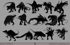 Image result for creature silhouette