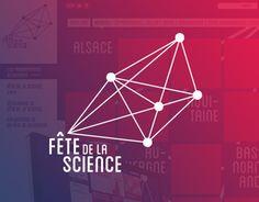 Créer le nouveau logotype pour la Fête de la science 2014 sur le thème de la géométrie, puis concevoir la charte graphique et en déclier des supports web et print...