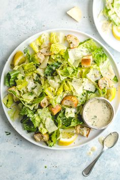 Perfect Caesar Salad with the Best Caesar Dressing