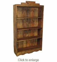 directfrommexico.com - Painted Wood Santa Fe Open Bookcase Natural