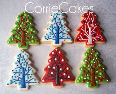 Assorted christmas cookies from 2012. Sugar cookies topped in MMF with royal icing decorations