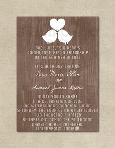 Wedding Invitation Rustic Shabby Chic Wedding by ThePaperFairie Fall Wedding, Our Wedding, Dream Wedding, Chic Wedding, Wedding Stuff, Wedding Ideas, Wedding Wishes, Friend Wedding, Save The Date Invitations