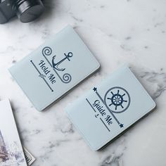 Nautical passport covers for couples
