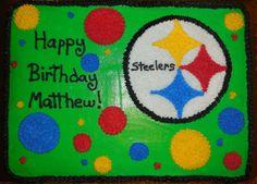 steelers themed birthday cake