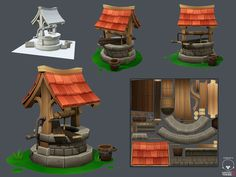 Show your hand painted stuff, pls! - Page 28 - Polycount Forum Environment Concept Art, Environment Design, Prop Design, Game Design, Kids Castle, Low Poly Games, Game Textures, Hand Painted Textures, 3d Modelle