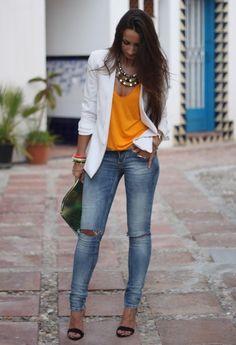 Wearing Jeans