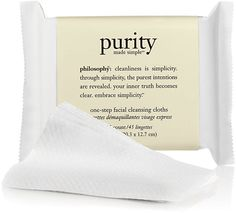 Purity facial cleansing cloths by Philosophy