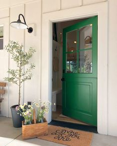 Sherwin Williams  - front door in Arugula