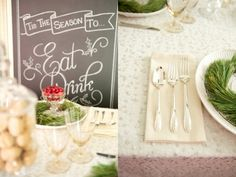 Christmas Winter Table Setting Inspiration  Vintage Rentals - The Sugar Post  Photography & Styling - Catalina Bloch