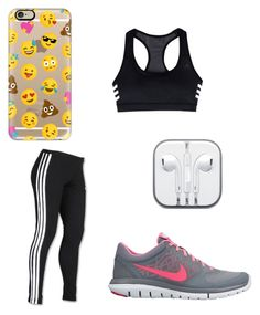 """""""Morning Workout"""" by jamessolana on Polyvore featuring NIKE, adidas and Casetify"""