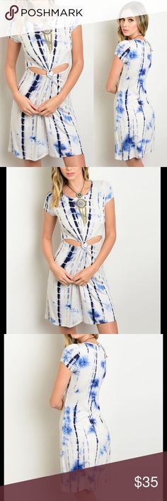 """Host Pick  Dress Bundle to save PRICE FIRM UNLESS BUNDLED  Twisted Knot Tie Dye Dress Fabric Content: 95% RAYON 5% SPANDEX Made in USA Size recommendations: 