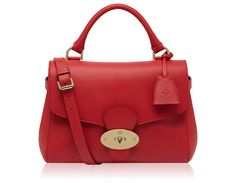 Mulberry - Primrose in Bright Red Polished Calf