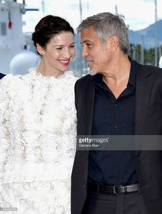 Caitriona Balfe with George Clooney, Cannes 12. Mai 2016
