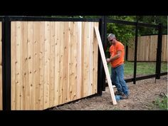 Check out some of the most beautiful privacy fences on the planet. Combine wood, bamboo, composite, etc. with classic metal framework. Hot Tub Backyard, Backyard Fences, Outdoor Landscaping, Landscaping Ideas, Steel Fence Posts, House Fence Design, Privacy Fences, Fencing, Privacy Screens