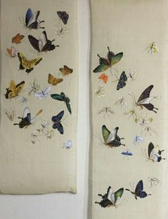 Dress Painting, Ink Painting, Fabric Painting, Butterfly Painting, Butterfly Art, Korean Art, Asian Art, Chinese Painting, Chinese Art