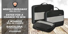Giveaway! Traveler's Choice Barcelona Packing Cubes http://woobox.com/aejrgr from @travelerschoice