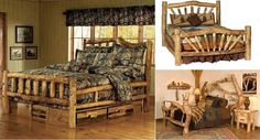 How to Build a Log Bed – Tutorial - http://www.decorationarch.com/creative-ideas/how-to-build-a-log-bed-tutorial.html