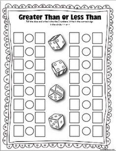 Classroom Freebies: FREE Dice games!